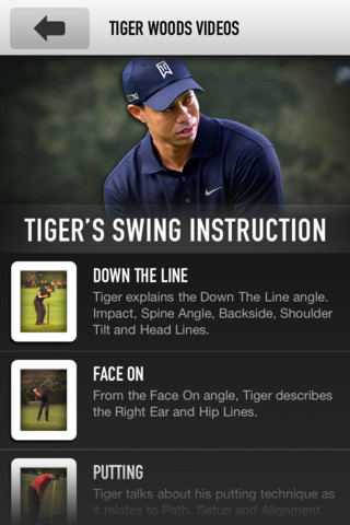 Putting Videos Added to Tiger Woods' App